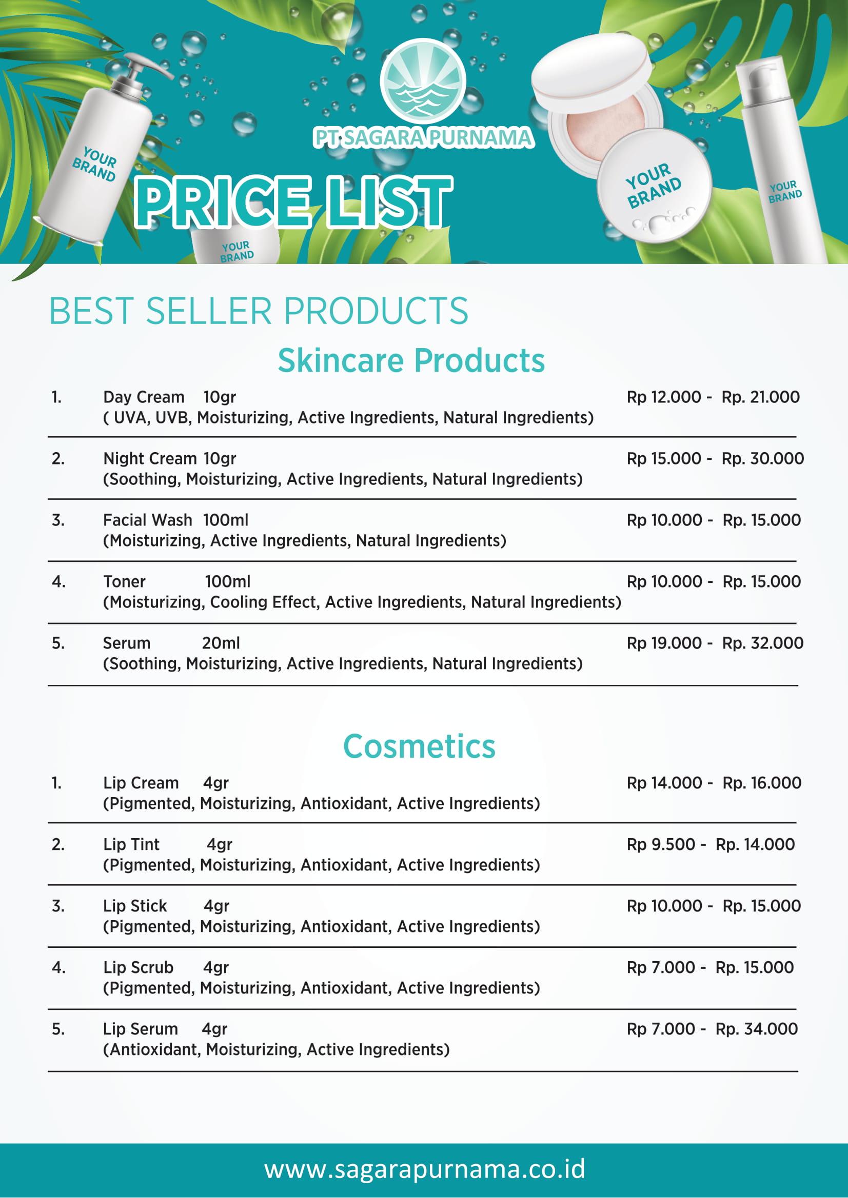 Price List PT. Sagara Purnama